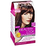 3 Pk, L'Oreal Paris Healthy Look Creme Gloss, Light Auburn Brown / Cherry Praline #6RB