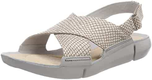 a1cb7d916ba CLARKS Tri Chloe Womens Sandals 9.5 B(M) US Women Silver Metallic