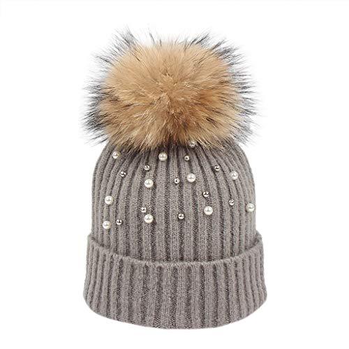 Palarn Newsboy Caps Bomber Cowboy Hats Berets Women Keep Warm Winter Hairball Knitted Hat Wool Hemming Hat Ski Hat