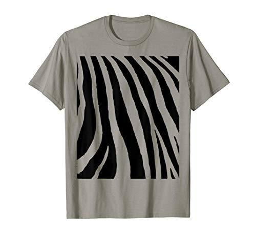 Zebra Stripes Animal Print Halloween Costume Shirt Funny Gif -