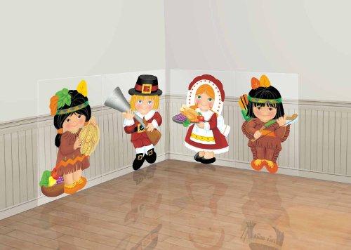 Thanksgiving Kids Scene Setters (4 count)