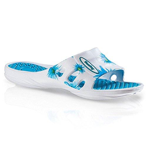 confort Bleu avec Pantoufles semelle Pina de intérieure Fashy TwqIR