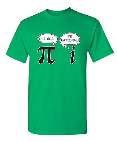 Get Real Be Rational Pi Graphic Cool Novelty Funny Youth Kids T Shirt YL Irish