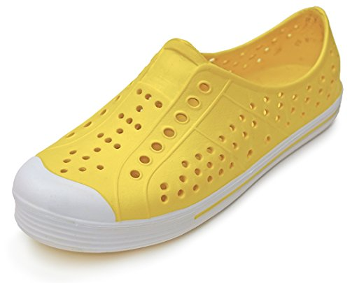 Price comparison product image 'Sole Selection Girls Yellow Water Sneaker, Size 1'