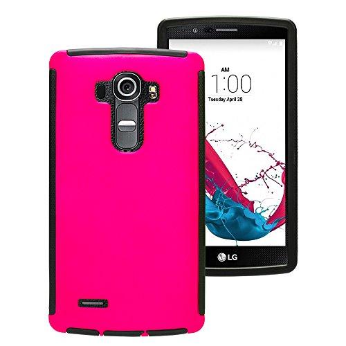 Mobilefox Touch Case Displayschutz Full Cover Schutzhülle Tasche Hard LG G4 Pink