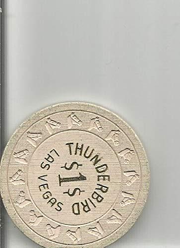 $1 thunderbird dollar signs casino chip token las vegas nevada rare