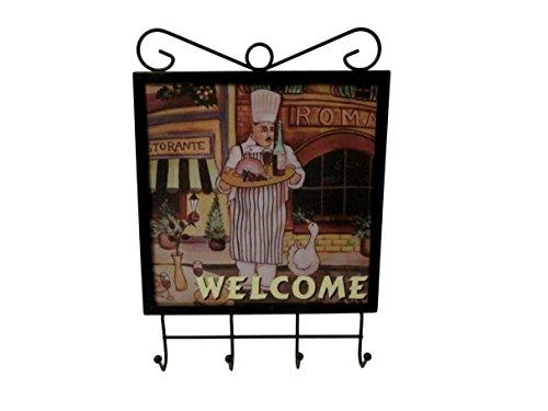 Bonita Home Sophia Essentials Fat Chef Culinary Wall Hook For Towels, Keys, Aprons, Utensils (Wine) - Fat Hook