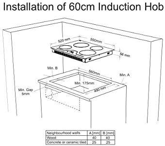 Sharp KH-6I31BS00-EU - Placa de inducción (4 elementos de calefacción, 59 cm, SliderTouch, detección de ollas, sin marco, control automático, función de parada y funcionamiento táctil): Amazon.es: Grandes electrodomésticos