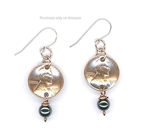 Amazon 60th Birthday Gift Ideas 1959 Penny Earrings Hemalyke Beads Coin Unique Gifts For Women Handmade