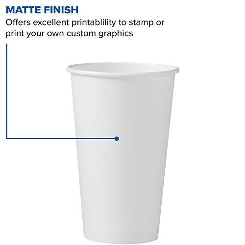 Solo 316W-2050 16 oz White SSP Paper Hot Cup (Case of 1000) by Solo Foodservice (Image #4)
