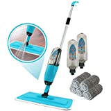 Kray Spray Mop Kit Strongest Heaviest Duty Mop Set - Best Floor Mop Easy to Use - 360 Spin Microfiber Mop with Integrated Sprayer - Includes 3 Refillable 700ml Bottles & 5 Reusable Microfiber Pads