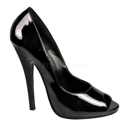 - Pleaser Women's Domina-212 Peep-Toe Pump,Black Patent,13 M US