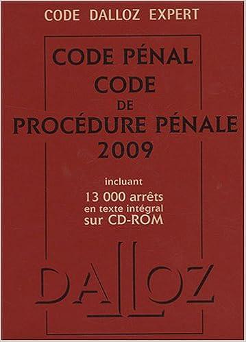 Téléchargement Code pénal et procédure pénale (1Cédérom) pdf