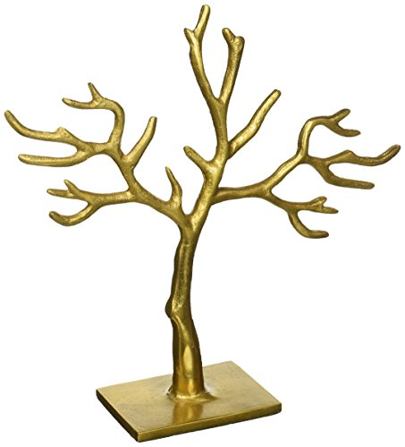Tree Gold Branch (Gold 20 Branch Casted Tree of Life Jewelry Holder by KINDWER)