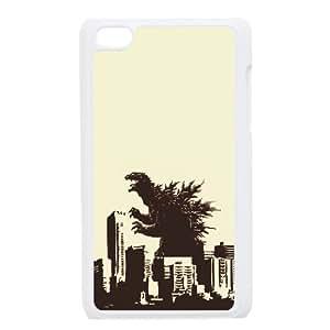 Godzilla iPod Touch 4 Case White gift W9602683