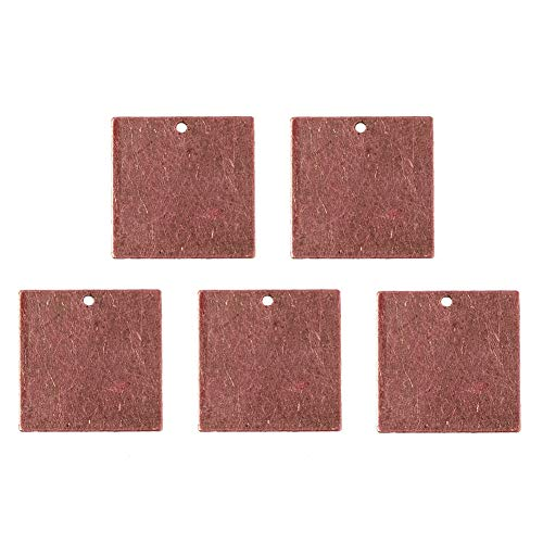 - Pandahall 10pcs Red Copper Brass Blank Stamping Tag Pendants Metal Alphabet Letter Stamps Tags Charms for Jewelry Necklace Makings 3/4 inch Square