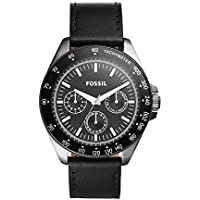 Fossil Men's 'Neale' Quartz Stainless Steel and Leather Watch