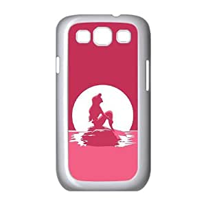 Princess Eating/ Little Mermaid Ariel Holding Logo Clear Transparent Case For Samsung Galaxy S3 RVNLI_W464003