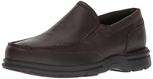 Rockport Men's Eureka Plus Slip On Oxford, dark brown, 11.5 W US