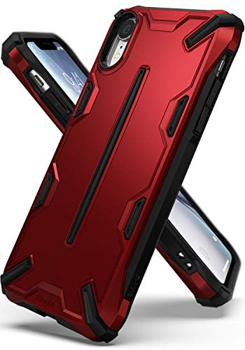 Ringke Dual-X Compatible with iPhone XR Case Dual-Layer Reinforced Heavy Duty Defense [Shock Absorption] Ergonomic Reassuring Grip Armor Protective Cover for iPhone XR 6.1 (2018) - Iron Red