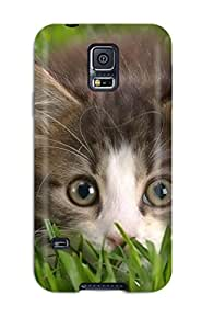Mary Salo Premium Protective Hard Case For Galaxy S5- Nice Design - Hiding In The Grass Sending Free Screen Protector