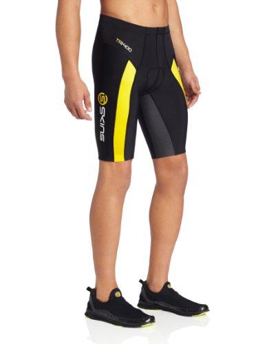 Skins TRI400 Compression Shorts - Men's-Black - Shorts Skins Triathlon