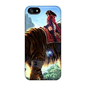 Dana Lindsey Mendez Design High Quality Huge Tiger Ride Cover Case With Excellent Style For Iphone 5/5s