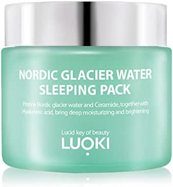 Luoki Nordic Glacier Water Sleeping Pack 80g (2.82 Oz) - Brightening & Wrinkle Improvement Moisturizing Gel Cream
