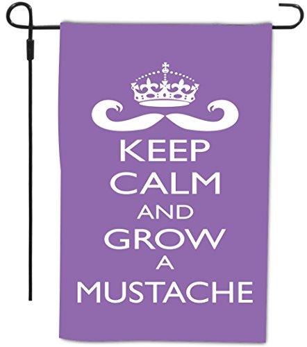 Rikki Knight Keep Calm and Grow a Mustache Decorative Hou...