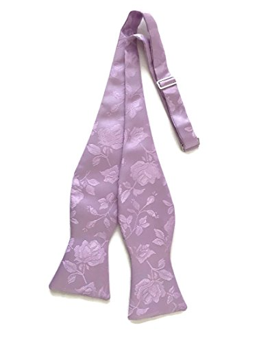 - Holiday Bow Ties Mens Self-tie Bow Tie Rose Jacquard Handmade, Lavender, Men's (Mens, Lavender)