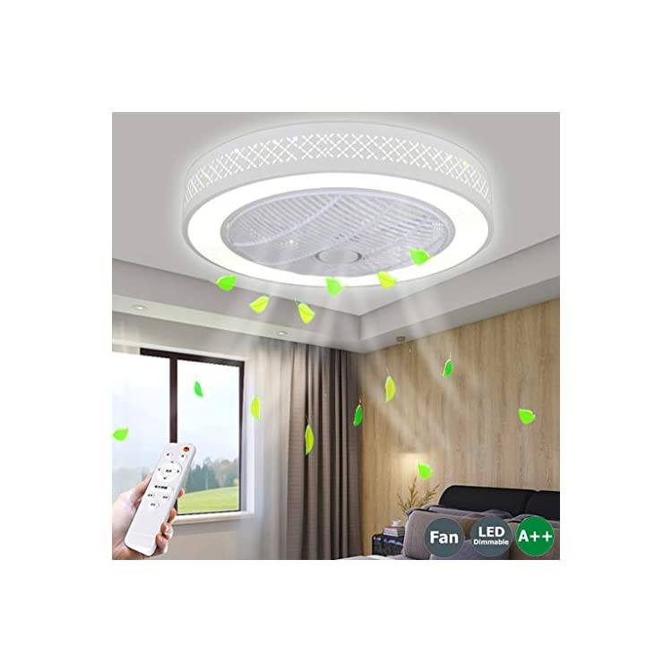 Fan Ceiling Lamp Ceiling Fan with Led Lighting and Remote Control Fan Creative Invisible Ceiling Fans Lights for Kids…