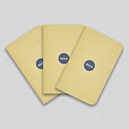Word. Notebooks Yellow - 3-Pack Small Pocket Notebooks