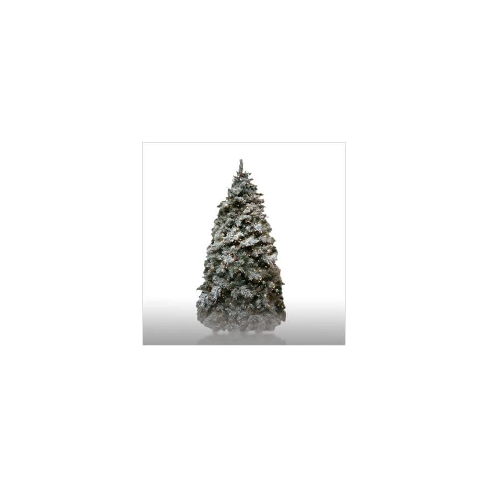 Good Tidings 4755652 9 Prelit Frosted Spruce Artificial Christmas Tree Set