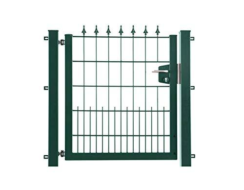 Arvotec - Porta da Giardino Lilie, RAL 6005 Verde, 1200 x 1200 mm, zincato e Verniciato a Polvere, con raccordi per recinzioni ad Asta