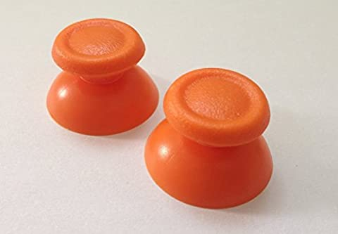 Mini Butterball 2x New Orange Replacement Controller Analog Stick Play Station 4 Thumbsticks thumb stick for Dual Shock 4 (Ps4 Extender Thumb Sticks)