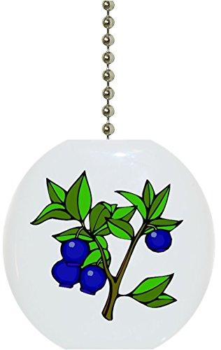 Carolina Hardware and Decor 1065F Blueberries Blueberry Fruit Ceramic Fan Pull