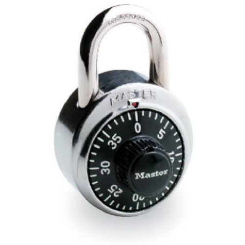 Master Lock 1500D Dial Combination Lock, 1-7/8-inch, Black