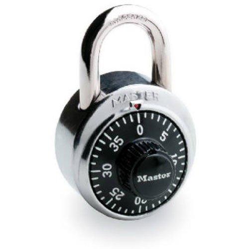 Master Lock Combination Padlock (Master Lock Padlock, Standard Dial Combination Lock, 1-7/8 in. Wide, Black, 1500D)
