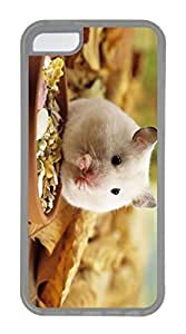 linfengliniPhone 5C Case, Customized Protective Soft TPU Clear Case for iphone 5C - Eating Mice Cover