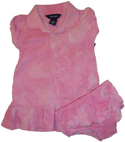 Infant Girl's Ralph Lauren Polo 2 Piece Dress Tie Dye Pink (18 Months)
