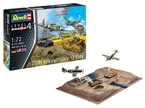 Revell GmbH Revell 03352 3352 1:72 D-Day 75th Set Model Kit, Multicolour, 1/72