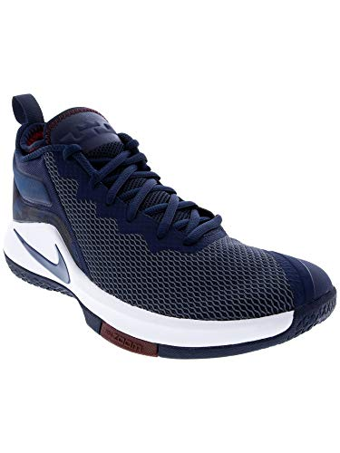 37d309ae6ea1 Nike Men s Lebron Witness Ii College Navy Ankle-High Basketball Shoe ...