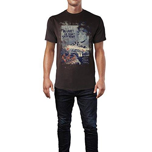 SINUS ART® Havet Er Vor Skæbne Herren T-Shirts braunes Cooles Fun Shirt mit tollen Aufdruck