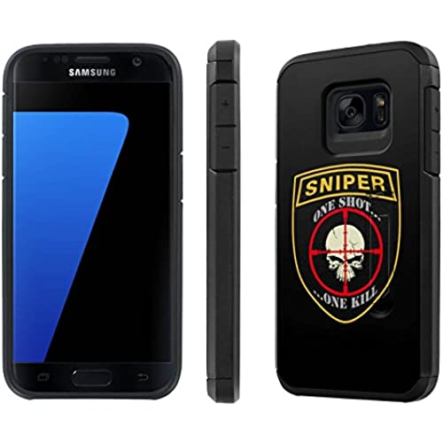Galaxy [S7] [5.1 Screen] Defender Hybrid Case [SlickCandy] [Black/Black] Dual Layer Protection [Kick Stand] [Shock Proof] Phone Case - [Sniper] for Samsung Sales