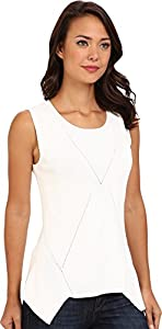 Kenneth Cole New York Women's Hilaria Sweater, White, Large