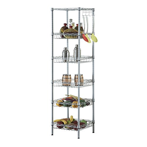 4 Layers Shelf For Kitchen Storage Dish Rack Pots - 6