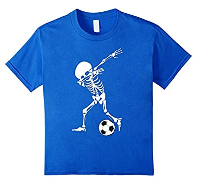 Dabbing Skeleton Soccer Shirt - Funny Halloween Dab T-Shirt