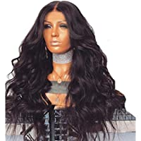 SODIAL Brazilian Remy Human Hair Body Wave Lace Front Human Hair Wigs With Baby Hair Hairline