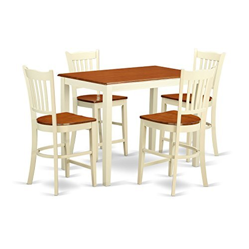 5 Pc counter height Dining set - counter height Table and 4 Kitchen Chairs.
