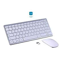 KINGEAR PDK1002 Wireless Keyboard/Mouse Full-size Whisper-quiet Wireless Keyboards and Mouse for Desktop and Mac in Ergonomic Design